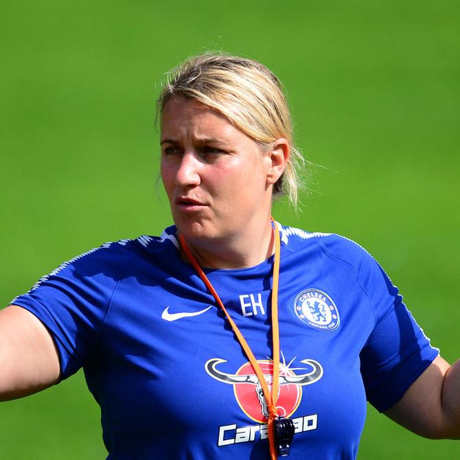 emma hayes on a pitch