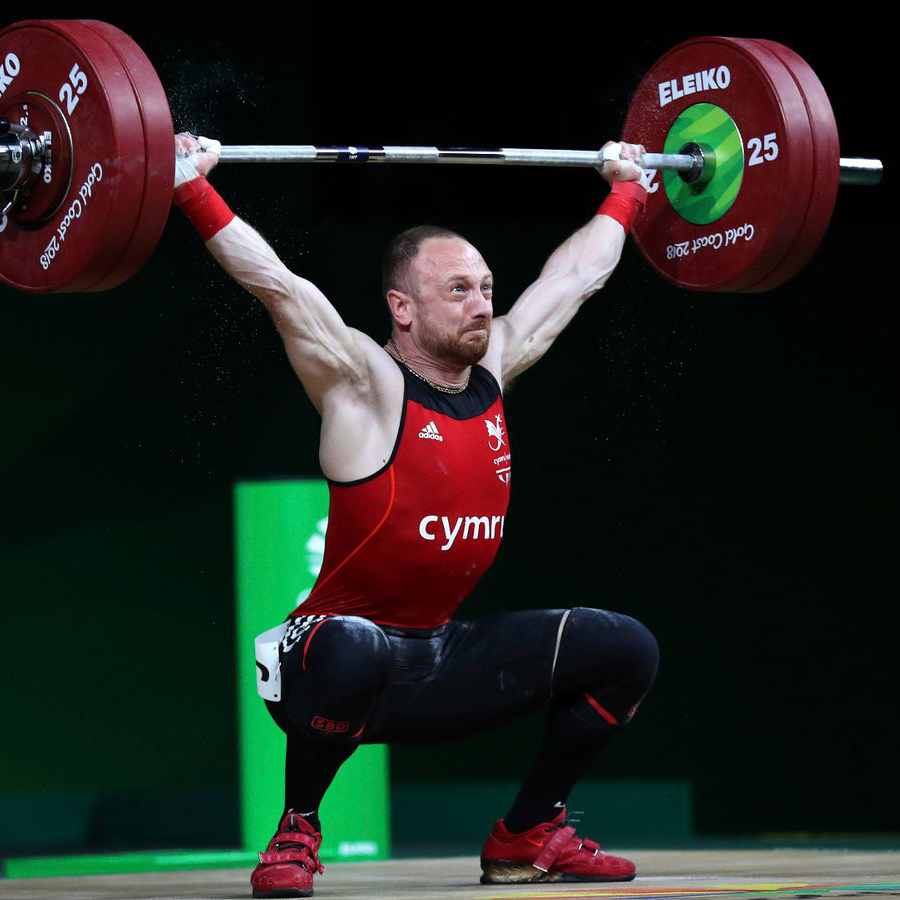 gareth evans lifting a weight