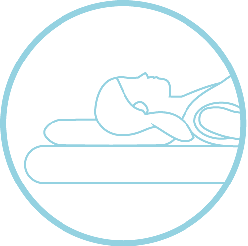 child sleeping on neck pain pillow