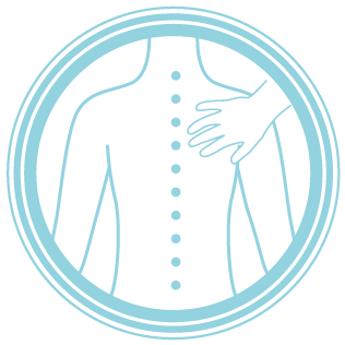 icon of a hand touching a spine