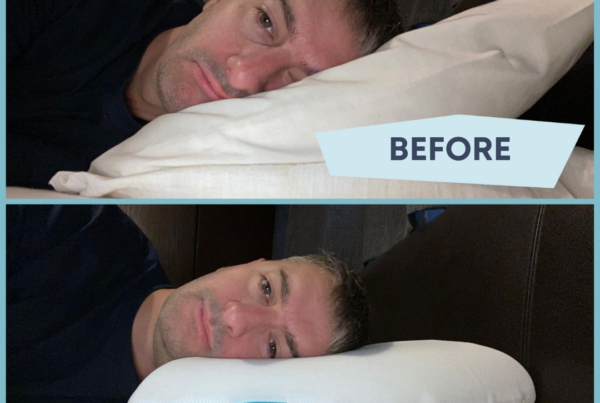 before after pillow positioning for shoulder pain